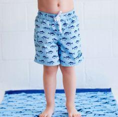 Monogrammed Boys Swim Trunks | subtlysouthern.com