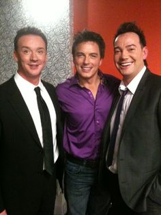JB on Strictly's Take Two in November 2010 with Russell Watson (L) and Craig Revel Horwood (R) Strictly Come Dancing, November, Dance, People, November Born, Dancing, People Illustration, Folk