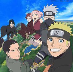 Naruto Uzumaki, Kakashi Hatake, Sakura Haruno, Gaara, Sasuke Uchiha e Shikamaru Nara