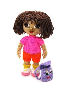 Dora the explorer amigurumi crochet pattern by Masha Pogorielova (mashutkalu)