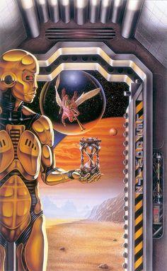 "thevaultofretroscifi: ""Barclay Shaw Asimov Vol. I"" #coverart #robots #scifi"