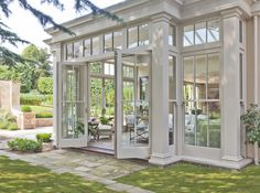 Orangery with Bi-fold Doors - traditional - Sunroom - Other Metro - Vale Garden . Orangery with Bi Future House, Orangerie Extension, Orangery Extension Kitchen, Kitchen Orangery, Conservatory Kitchen, Sunroom Decorating, Design Exterior, House Goals, Outdoor Rooms