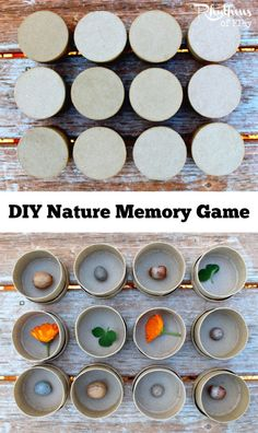Nature Memory is an educational game and sensory activity for preschoolers and up. Playing nature memory helps children develop focus, memory, and recognition skills. This DIY nature memory game can also be used to teach math and science concepts dependin