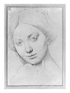 Louise De Broglie, Countess of Haussonville, C.1842 (Graphite on Paper) reproduction procédé giclée par Jean Auguste Dominique Ingres sur Al...
