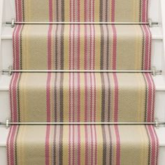 Roger Oates stair carpet in candy stripes.