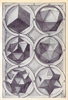 Terra (b) - Perspectiva Corporum Regularium -  Wenzel Jamnitzer 1568 by peacay, via Flickr