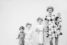Little Girl Heels, Little Girls, Sleep In Hair Rollers, Roller Set, Curlers, Vintage Hairstyles, Old And New, Daughters, Your Photos