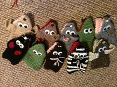 Crocheted puppets- no pattern, but could be fun to try!