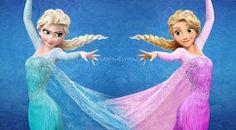 Que genial viva la primas  Elsa y Punzie