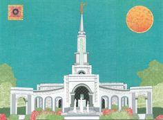 Sacramento California temple by Acorn to Zebra Collage