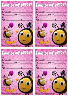 Enjoy these party invites from The Hive!