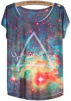 Shop Blue White Short Sleeve Galaxy Triangle Print T-Shirt online. Sheinside offers Blue White Short Sleeve Galaxy Triangle Print T-Shirt & more to fit your fashionable needs. Free Shipping Worldwide!