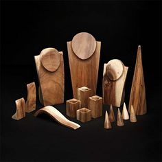 Natural Suar Wood Five-Piece Ring Block Display Set The natural beauty of suar wood stands out with this handcarved display. Cut and contoured from a single piece of solid wood, no two displays are exactly alike due to the natural variations in the wood grain. Suar wood is a fast-growing tropical hardwood that is non-endangered and eco-friendly. It carries a Global Conservation status of G5 for being widespread, abundant and secure in the environment.