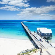 Seriously, what a view! Extending 1.8 kilometres across breathtaking Geographe Bay, the heritage listed #Busselton Jetty is the longest  timber-piled jetty in the Southern Hemisphere. It's a must-see spot for any visitors to the @margaretriver region in #westernaustralia. Photo: @shasamichael