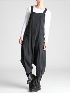 WOOLLY THICK COTTON OVERALLS - JACKETS, JUMPSUITS, DRESSES, TROUSERS, SKIRTS, JERSEY, KNITWEAR, ACCESORIES - Woman -