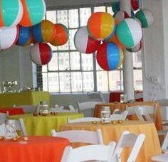 Decorating With Beach Balls Beach Ball Birthday Party Ideas The Most Adorable Beach Ball