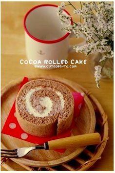 Cocoa roll cake
