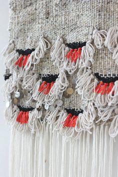 Poppy Scallops Weaving HandWoven Wall Hanging by hellohydrangea