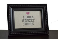 The Crafty Novice: Home Sweet Home pattern