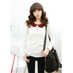 Buy 'Dodostyle � Check-Collar Knit Top' at YesStyle.com plus more South Korea items and get Free International Shipping on qualifying orders.