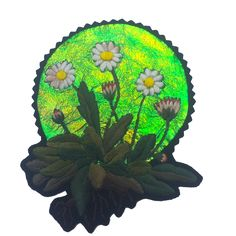 Iridescent Daisy Embroidered Patch 006 - LTD to 30 – Ellie Mac Embroidery Daisy Patches, Pin And Patches, Ellie And Mac, Freehand Machine Embroidery, Fabric Manipulation, Hand Stitching, Iridescent, Embroidered Patch, Delicate