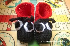LADY BUG BOOTIES  PATTERN