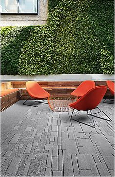 Carpet tiles, upholstery, and wall coverings from NeoCon the annual contract interiors event Corporate Office Design, Office Interior Design, Office Interiors, Modern Interiors, Exterior Design, Carpet Tiles, Carpet Flooring, Rugs On Carpet, Carpets