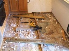 renovating old camper from start to finish   RV and Camper Trailer Floor Replacement & Repair. Step-By-Step Photos ...
