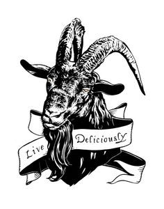 Black Phillip Screen Print by jdevineart on Etsy https://www.etsy.com/listing/462337370/black-phillip-screen-print