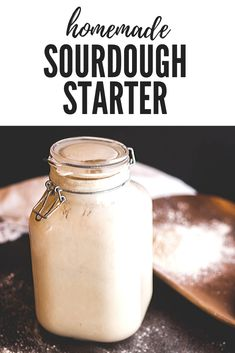If youre a bread lover youll love this San Francisco style sourdough starter for baking your own tangy and chewy sourdough bread! Healthy Sandwich Recipes, Easy Bread Recipes, Vegan Recipes Easy, Healthy Breads, Quick Bread, Muffin Recipes, Vegetarian Recipes, Healthy Food, No Knead Bread