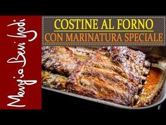 Le costine di maiale al forno con marinatura speciale sono un secondo piatto di . Baked pork ribs with special marinating are a second dish of godurioso meat that will soon become one of your favori Baked Pork Ribs, Pork Recipes, Food Hacks, Finger Foods, Food And Drink, Favorite Recipes, Dishes, Baking, Presto