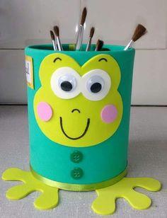 Ideas con latas  reciclabes Tin Can Crafts, Paper Roll Crafts, Foam Crafts, Craft Stick Crafts, Preschool Crafts, Crafts For Kids, Diy Crafts Hacks, Diy Home Crafts, Creative Crafts