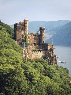Photographic Print: Castle Rheinstein, Rhineland-Pfalz, Germany by Walter Bibikow : Abandoned Castles, Abandoned Mansions, Abandoned Houses, Abandoned Places, Abandoned Mansion For Sale, Haunted Places, Beautiful Castles, Beautiful Places, Midevil Castle