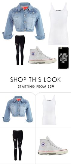 """""""Denim jacket"""" by miahxtchins on Polyvore featuring Vince, Miss Selfridge, Converse, Casetify and denimjackets"""
