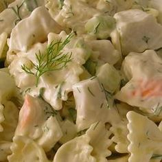 Fresh Dill Pasta Salad   I planted a ton of Dill... one of my top favorite herbs. I'll be making this immediately!