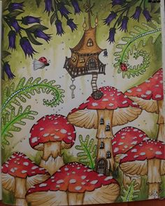 #CarovneLahodnosti #KlaraMarkova Adult Coloring Pages, Coloring Books, Debbie Macomber, Markova, Mushroom Art, Vintage Illustrations, Fungi, Art Journaling, Psychedelic