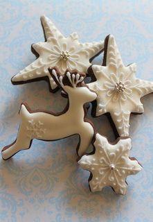 winter cookies by mint_lemonade, via Flickr via #TheCookieCutterCompany