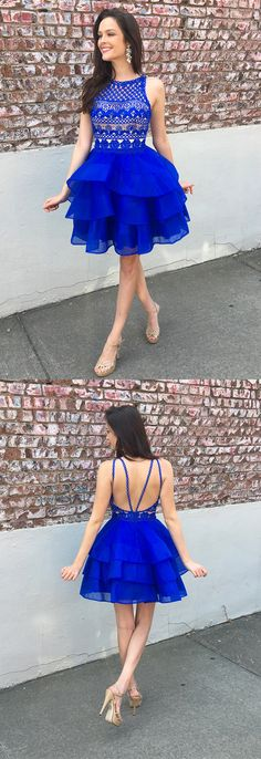 2017 homecoming dress, short homecoming dress,royal blue short homecoming dress, princess homecoming dress, sweet 16 dress, party dress dancing dress