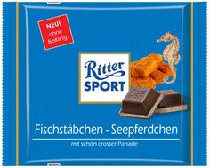 Ritter Sport Fake Schokolade   Fischstäbchen Seepferdchen