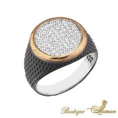 Silver Men Ring with Zircone $205 925K Silver Men Ring with Zircone  #jewellery #silver #oriental #fashion #jewelry #manring #manjewelry #ring #man #ottoman #hurrem #authentic #vintage #luxury #handmade