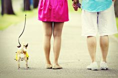 if you have a dog, include it in your wedding shots! adorable #family
