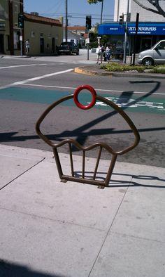 Cupcake bike rack