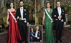 Prince Carl Philip and Princess Sofia - who announced they are expecting their second child - joinedCrown Princess Victoria and Prince Daniel at the event.