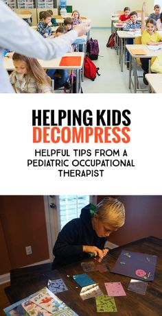 Helping Kids Decompress: Tips from a Pediatric Occupational Therapist. *Often don't realize how over stimulating school can be for any kid, and especially for kids who have some extra special sensory needs. Coping Skills Activities, Learning Activities, Free Activities, Educational Activities, After School Routine, School Routines, Pediatric Occupational Therapy, Preschool Curriculum, Homeschool