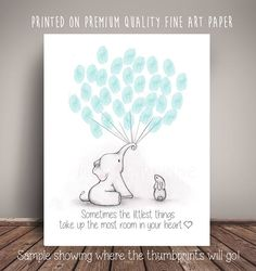 Elephant and Bunny Baby Shower GuestBook Alternative Guest