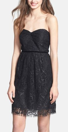 This shimmering lace vintage-inspired dress would be a great bridesmaids dress or a reception dress.