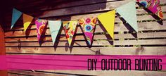 New Wave Domesticity: An Easy DIY Outdoor Bunting! oilcloth - no sewing!