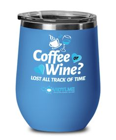 Coffee or Wine - CovidTi.me Blue Wine Glass Sizes, Fight The Power, Family Gifts, Custom Mugs, Cold Drinks, Gift Ideas, Coffee, Tableware, Blue
