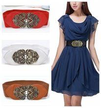 2016 New Fashion Accessories Alloy flower leather belt Brand women vintage Girdle belts for women cheap-fine store