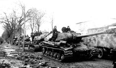 IS-2s 1st Byelorussian Front advancing in Germany February 1945